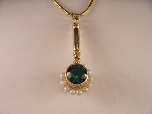 Unique Estate 3D 3-D 14K Yellow Gold Seed Pearl Auctioneer Mallet Charm Pendant by GEMSforyou