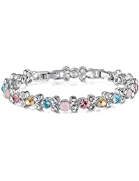 Tennis Bracelet Made with Swarovski Crystal, Fashion Jewelry Gift for Girls