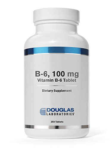 Douglas Laboratories - B-6-100 mg. Vitamin B6 to Support Energy Production, Metabolism and Normal Nervous System Function* - 250 Tablets