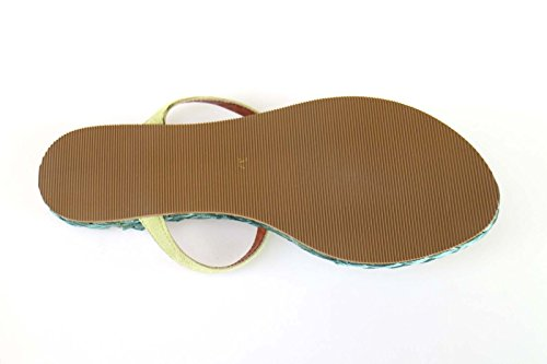Zapatos mujer RAFFAELE GRECO Sandalias verde gamuza AM877