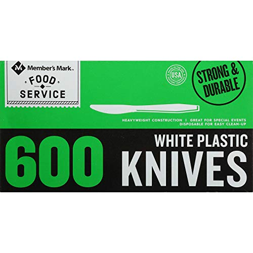 - Member's Mark Plastic Knives, Heavyweight, White (600ct.) (600ct)