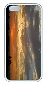 iPhone 5S Customized Unique Landscape Flowers Nature Landscape Sun And Sky 11 New Fashion TPU White iPhone 5/5S Cases