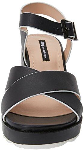 MTNG Women's Bahama Platform Sandals Black (Pisces Black ) mAlZQV53