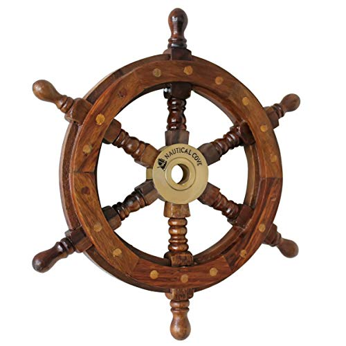Nautical Cove Wooden Ship Wheel 18