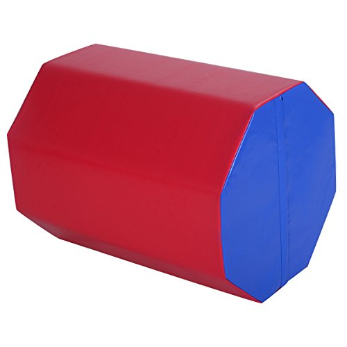 Goplus 25 ' x 30' Gymnastics Mat Octagon Tumbler Skill Shape Exercise Preschool Kids Gym (Red)