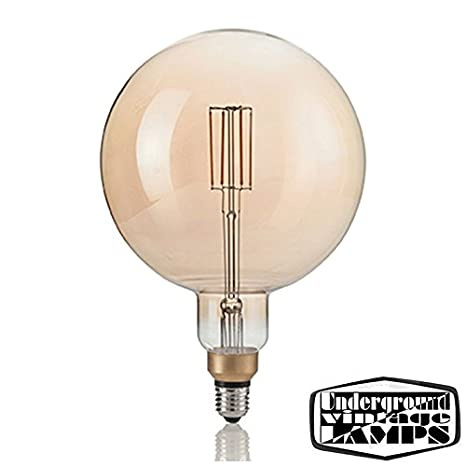 bombilla LED Vintage XL E27 4 W 320LM 2200 K Globo Big Carbon Giant Bulb: Amazon.es: Iluminación