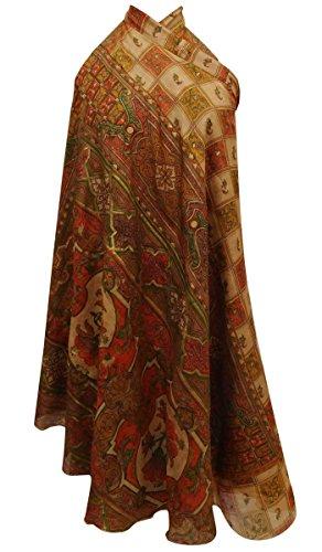 Pure Silk Casual Printed multicolour Reversible Hippie Dress Vintage Saree Skirt Wrap Hippie Silk Skirt