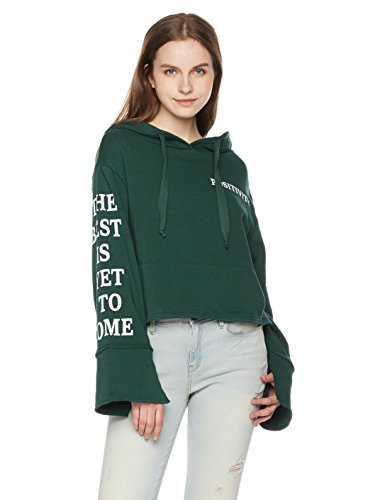 Something for Everyone Women's Wide Sleeve Graphic Hoodie Large Pine - Sweater Wide Sleeve