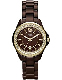 Riley Mini Ceramic Watch - Brown