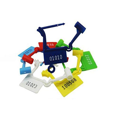 - Eforlike 50 Pcs Luggage Multicolored Disposable Plastic Padlock Seals