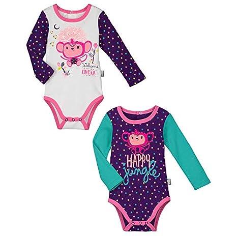 Lot de 2 bodies manches longues bébé fille Mohini - Taille - 3 mois ... a8560223645