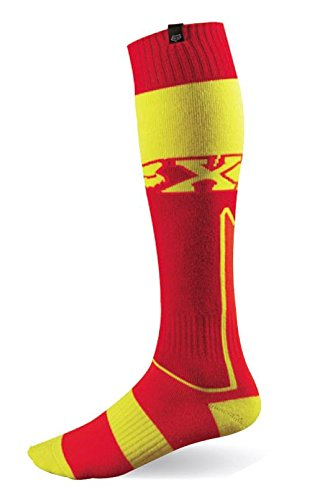 Fox Racing Fri Imperial Thick Men's MX Motorcycle Socks - Red/Yellow/Medium (Road Fox Racing Boot)