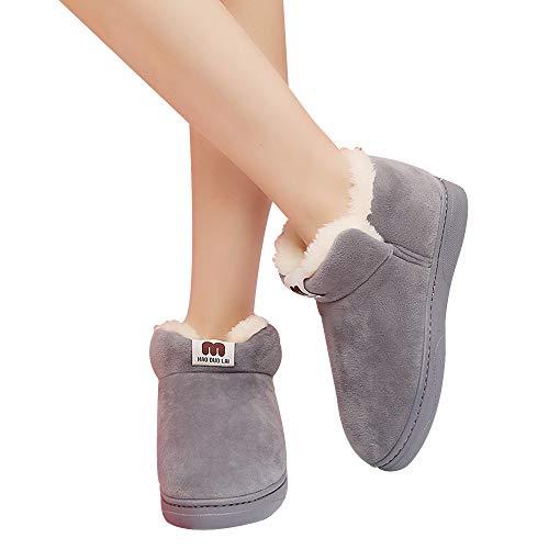 donne più studenti snow casual stivali Tubo Scarponi di Donna delle Stivali Paolian cotone velluto Grigio corto scarpe qFwZFXBTc