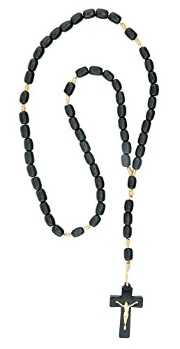 Men's Black Wood Rosary- Made in Brazil