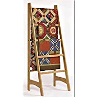 Solid Oak Standing Ladder Quilt Rack