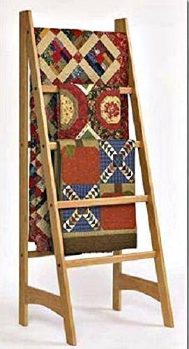 Read About Solid Oak Standing Ladder Quilt Rack