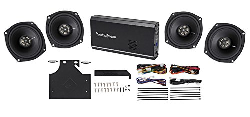 Rockford Fosgate R1-HD4-9813 160 Watt RMS 4 Channel Motorcycle/Harley Amplifier and Complete Speaker System - Includes All Wiring and Mounting Hardware, Closed Loop Design Maximizes Output