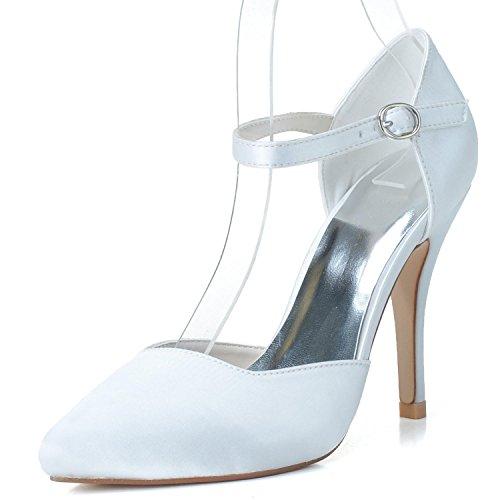 Haut Mariage 0255 Platform Chaussures Boucle High L De white 27 Gamme Heels De Femmes De YC Mariage Comfort Round Custom qZxSPF