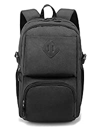 Weekend Shopper Slim Laptop Backpack School Backpack with Laptop Compartment for College Men and Women Black