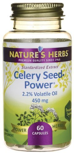 Nature's Herbs Celery Seed-Power 60 Capsules by Nature's Herbs Celery Seed Power Natures Herbs
