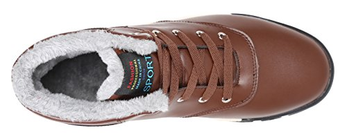 Sneakers High Mens Sky Snow up Ankle Fur SHOP Brown Top Lining Boots Lace w1rqPzxCw