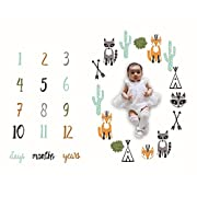 Milestone Blanket,Baby Boys Monthly Old Picture Milestone Blanket Photo for Newborn,Baby Swaddling Blanket for Photography Background