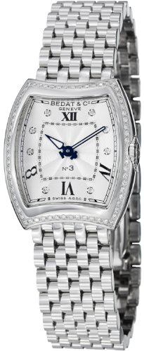 Bedat Women's No.3 Diamond Bezel Stainless Steel Watch 316.021.109 ()