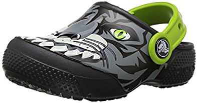 Crocs Unisex Kids Fun Lab Clog, Tiger/Graphite, C4