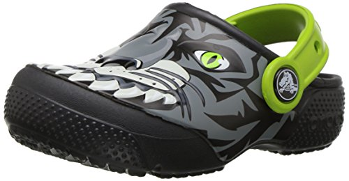 Crocs Kids' Fun Lab Boys Graphic Clog, Tiger/Graphite, 6 M US Toddler