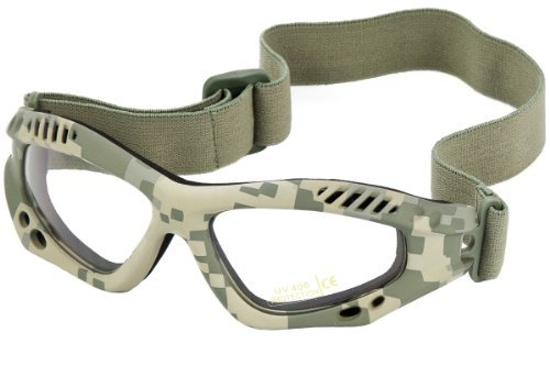 Mil-Tec Commando Goggles Air Pro Clear Lens ACU Digital Frame by Mil-Tec