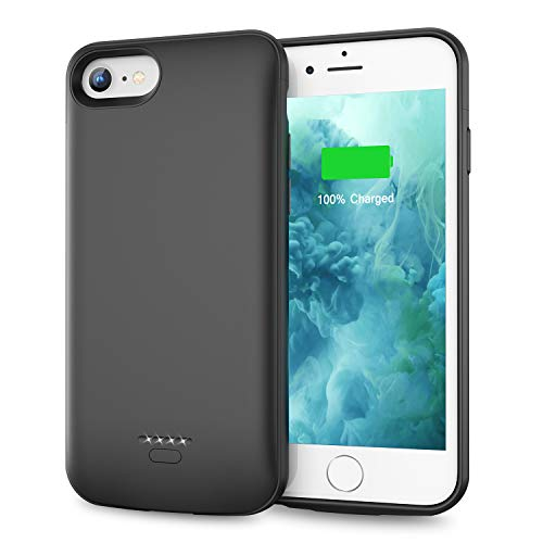Swaller Battery Case for iPhone 6 Plus 6s Plus, Slim 5500mAh Portable Charger Case Extend 150% Battery Life, Protective Backup Charging Case (Black)