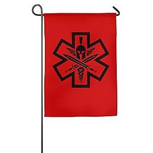 Medical EMS EMT Paramedic Medics Helmet Garden Flag