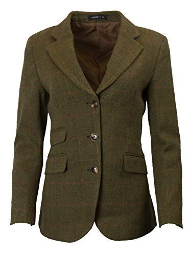 (Walker & Hawkes - Ladies Classic Mayland Tweed Country Blazer Jacket - Dark Sage - US 8 (UK 10))