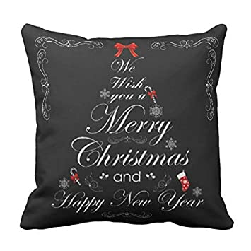 Amazon.com: CELYCASY Elegant Merry Christmas Message Tree ...