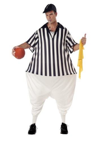Halloween Costume Referee (California Costumes Men's Referee Costume, Black/White, One Size)