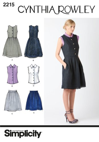 Simplicity Sewing Pattern 2215 Misses' and Miss Petite Dresses Cynthia Rowley Collection, Size R5 (14-16-18-20-22)