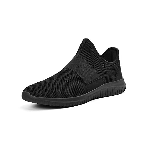 8a1b7d313aa75c Feetmat Shoes for Men Slip On Knit Lightweight Gym Athletic Walking Running  Sneakers