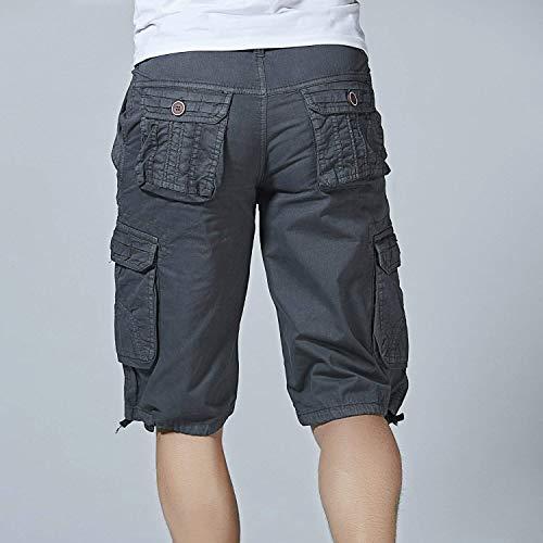Jeans tasca Con Corti Ufige Fashion Abbigliamento Cargo Pantaloncini Multi Wear Adelina Outdoor Pantaloni Uomo Da Twill Dunkelgrau Bermuda WZv7wn8qAx