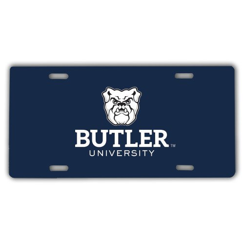 Butler License Plate 'Butler University Stacked Bulldog Head'