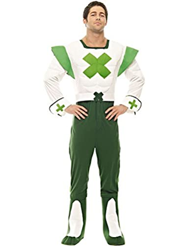Official Green Cross Code Man Fancy Dress Costume. Always remember the green cross code, because I won't be there when you cross the road!