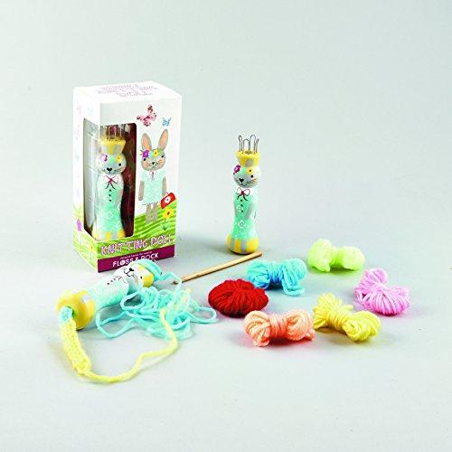 French Bunny - Knit Doll Loom Beginner Knitting Kit with Yarn - Bunny