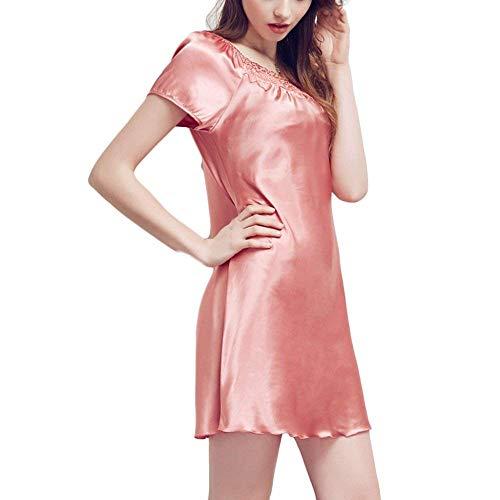 Verano Holgada Betrothales Dormir Midi A Ropa Pijamas Spa Vestido Vacaciones Camisón Redondo Mujeres Camisones Cuello Cortas Para De Noche Mangas rrWBUxwqE