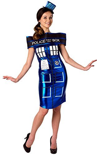 [Extra Small Ladies Doctor Who Tardis Dress Costume] (Tardis Dress Costume)