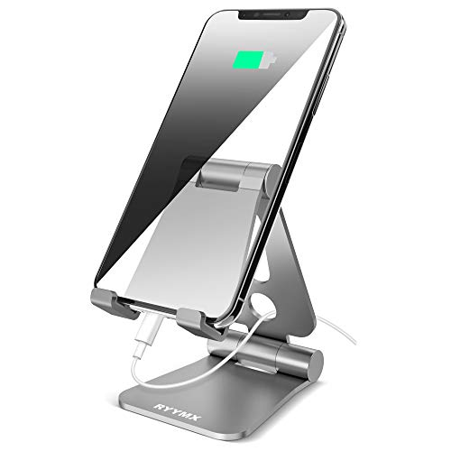 RYYMX Foldable Cell Phone Stand, Dual-Adjustable Axis, Simple