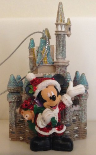 Disney Park Santa Mickey Mouse Duffy Castle Figurine Christmas Ornament Holiday
