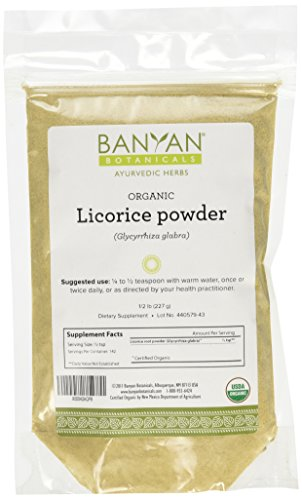 Banyan Botanicals Licorice Root Powder, 1/2 Pound - USDA Organic - Glycyrrhiza glabra - Ayurvedic Herb for Lungs, Skin, Stomach …