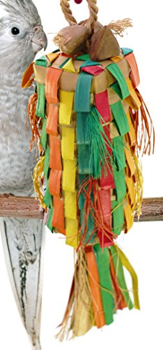 03357 Medium Straight Pinata Bird Toy Cage Toys Cages Foraging Chew Shredder
