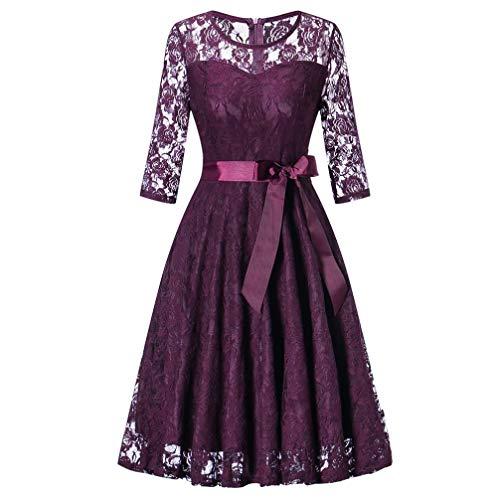 a9b0f793e68 Genou Chic D honneur Violet Femmes Manches Longues Jupe Vintage Femme  Élégant Demoiselle Slim Taille Pure De ...