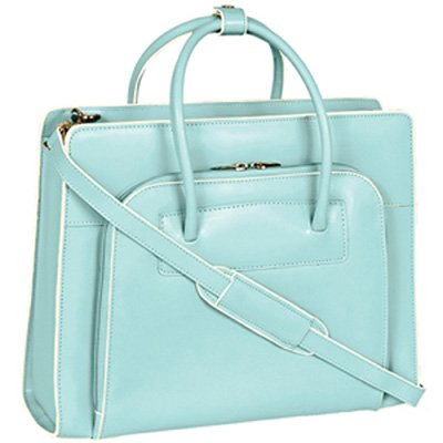 McKleinUSA LAKE FOREST 94338 Blue Leather Women's Case w/Removable Sleeve