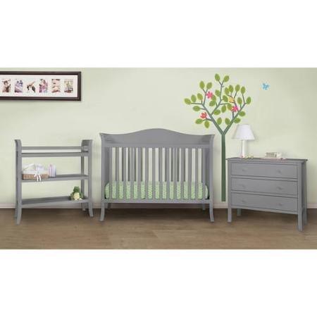 Baby Mod Bella 4-Piece Nursery Set, Grey